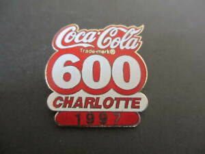 1997  Coca-Cola 600 Charlotte Motor Speedway  Lapel Hat Pin