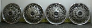 Oem Buick Set Of 4 15 Wire Spoke Hub Caps Wheel Covers 25504652 1980 85 1112
