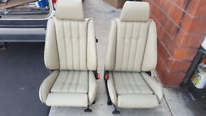 Bmw E30 325i 318i 325is Sport Seat Kit Pearl Beige German Vinyl Upholstery New
