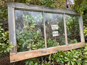 Antique Vintage Basement Window Sash 34 X 18 Old 3 Pane From 1926 Arts