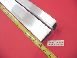 6 Pieces 1 x 2 x 1 8 Wall Aluminum Rectangle Tube 6063 T52 X 48 Long