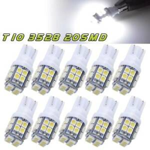 10x Super Bright T10 20smd Led Dome License Interior Light Bulb 192 194 168 2825