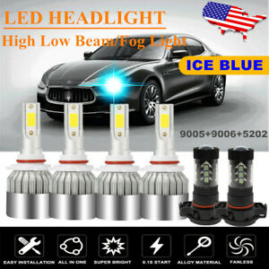 Combo Ice Blue Led Headlight Bulb Hi lo Beam Fog Light For Honda Civic 2004 2015