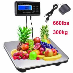 660lbs 0 1lb Electronic Digital Scale Floor Bench Shipping Postal Scale Platform