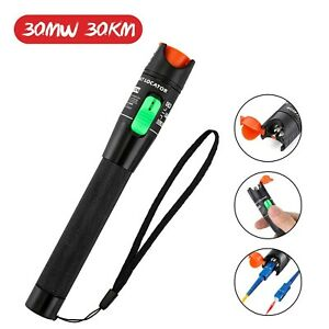 Visual Fault Locator Gochange 30mw 30km Red Light Fiber Optic Cable Tester M