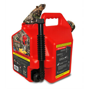 Surecan 2 Plus Gallon Total Flow Control Mossy Oak Hunting Fuel Container Red