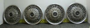 Oem Buick Set Of 4 15 Wire Spoke Hub Caps Wheel Covers 25504652 1980 85 1123