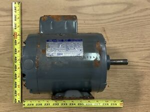 Westinghouse 1hp Single Shaft Electric Motor 1725 Rpm 115 230v 1 Phase D56 Frame