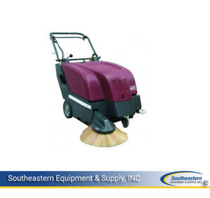 New Minuteman Ks28 Battery Operated Walk behind Carpet hard Floor Sweeper