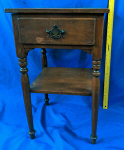 Ethan Allen Baumritter Vermont 1930s 40s Antique Table Night Stand Drawer Vtg