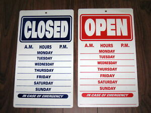General Business Sign Open Closed Business Hours