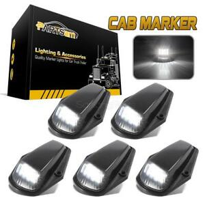 5xblack white 12 Led Cab Marker Roof Clearance Lights For 73 97 Ford F 150 F 250