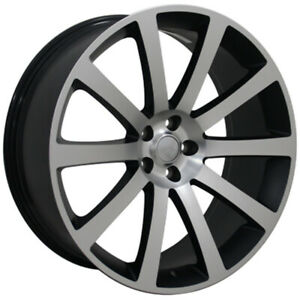 Matte Black Wheel 22x9 W machined Face For 2006 2015 Dodge Charger Owh1444