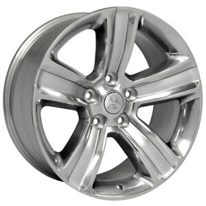 Polished Wheel 20x9 W silver Inlay For 2003 Dodge Ram 1500 Owh3706