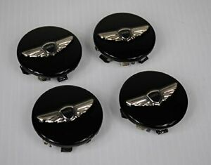 4x New Genesis Wheel Center Hub Caps Black 18 19 Wheel