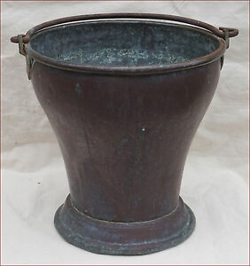 Antique Indian Copper Tableware Dhal Curry Serving Bucket Tinned Copper 19th C