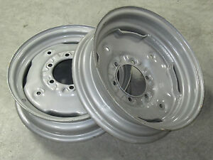 2 New Wheel Rims 4 5x16 Fit Many Minneapolis Moline 6 Hole 6 Bolt Circle
