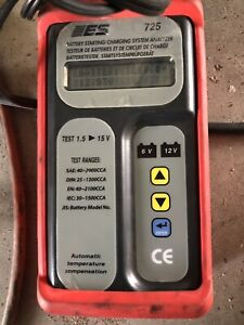 Es 725 Battery Starting charging System Tester Used