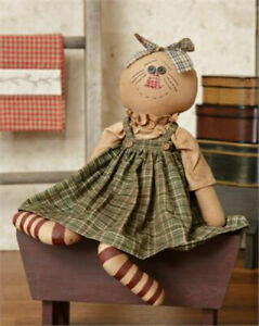 Primitive 19 Doll Fabric Rustic Look Country Home Decor Kora Stitched Face