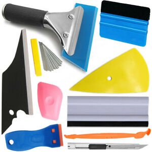 8pcs Car Window Tint Wrap Vinyl Tool Squeegee Scraper Applicator Kit 10 Blade