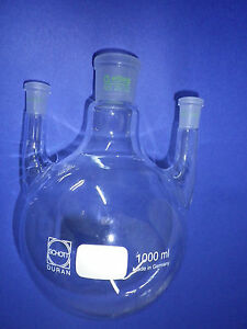 Three Neck Round bottomed Flask 1x Ns 29 32 And 2 X 14 23 Straight Seitenh lse