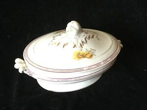 Antique Old Paris Tureen Covered Casserole