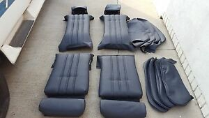 Bmw E30 325i 318i 325is Sport Seat Kit Blk Leather Upholstery Kit New Beautiful