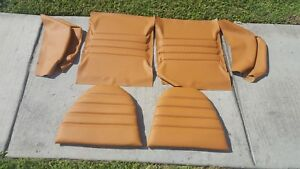 Porsche 911 912 76 84 Rear Seat Kit Upholstery Oem Leather Cork Beautiful New