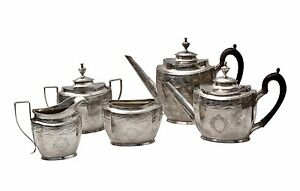 The Schofield Co Sterling Silver 5 Piece Tea Coffee Service Set Circa 1900 S