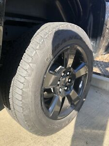 20 Chevrolet Silverado 1500 Truck Black Wheels Rim Tires Factory Oem Set 5652