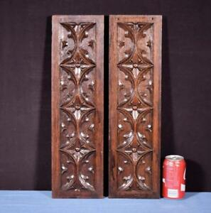 Gothic Carved Architectural Panels Trim In Solid Oak Wood Salvage