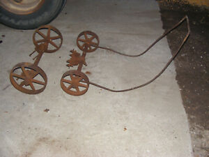 Antique Hit Miss Gas Engine Cast Iron Cart