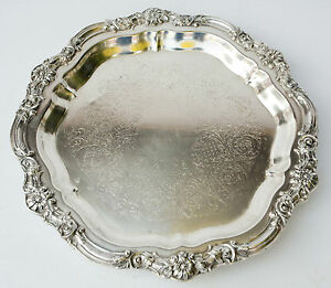 Antique F B Rogers 1883 Silver Company Serving Platter 16