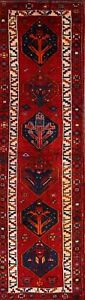Vintage Geometric 14 Ft Long Runner Lori Persian Oriental Hand Knotted 4x14 Rug