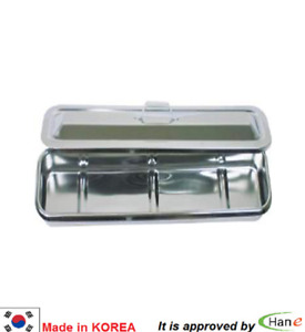 Dental Stainless Steel Medical Surgical Tray Dish Lab Instrument Tool 18 Lid