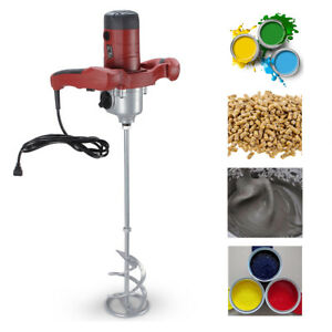 1600w Electric Mortar Mixer Dual Hi Low Gear 6 Speed Paint Cement Grout Mortar