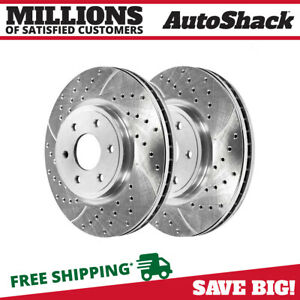 Front Drill Slotted Performance Rotors Pair 2 For 05 15 Nissan Frontier 980370