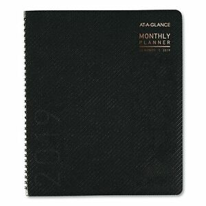 At a glance Contemporary Monthly Planner Premium Paper 8 7 8 X 11 Graphite