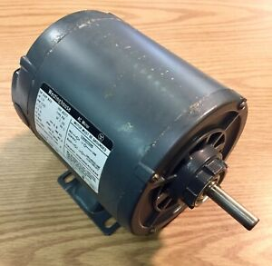 Westinghouse 1 3 Hp Single Shaft Electric Motor 1725 Rpm 115v 1 Phase B48 Frame