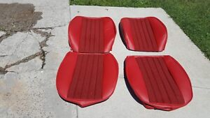 Porsche Seat Kit 911 912 New Upholstery Kit German Black Red Hounds Tooth New