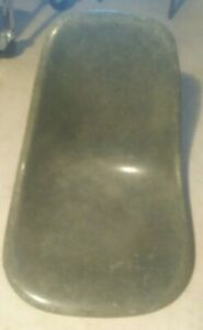 Vintage Herman Miller Fiberglass Chair Eames Style Rare Olive Green Mid Century