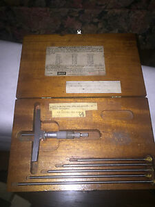 Lufkin No 514 Depth Micrometer Set