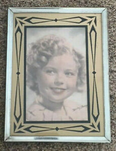Vintage Art Deco Reverse Glass Painted Picture Frame 6x8