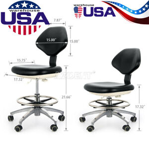 Pu Leather Dentist Stool Medical Dental Adjustable Mobile Chair Use Nurse Doctor