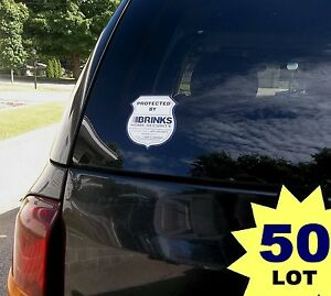 50 Lot Of Brinks Security Alarm System In Use Graphic Vinyl Auto Decal Stickers