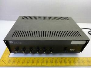 Dukane 1a1400 Audio Power Amplifier 100w 120v 60hz 2 25a T15249