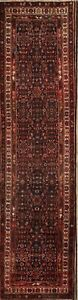 Vintage All Over Traditional 4x14 Hamedan Persian Hand Knotted Rug 13 11 X 3 6