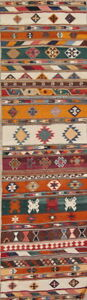 Vegetable Dye Flat Weave Runner Kilim Kashkoli Persian Runner Rug 9 9 X 2 9