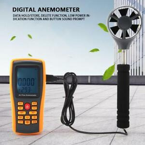 Gm8902 Digital Handheld Anemometer Wind Volume Speed Scale Meter Thermomoter