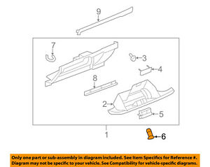 Gm Oem glove Compartment Box Lock 22819134